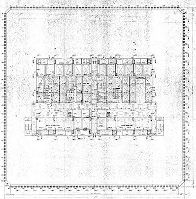 Blueprints of north tower independent investigators release suppressed blueprints of destroyed world trade center tower malvernweather Choice Image