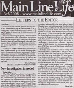 Another Letter For 9/11 Truth In The Newspaper