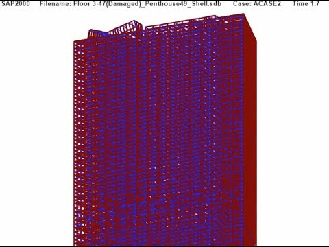 Figure 4.24a Near-Simultaneous Failure of All Columns Persp. 1 — UAF WTC 7 Draft Report