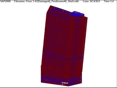 Figure 4.16 Hypothetical Failure of Columns 76 to 81 — UAF WTC 7 Draft Report